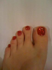 Rockstar toes - Ruby Slippers