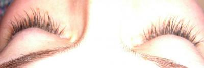 After Semi permanent eyelash extensions